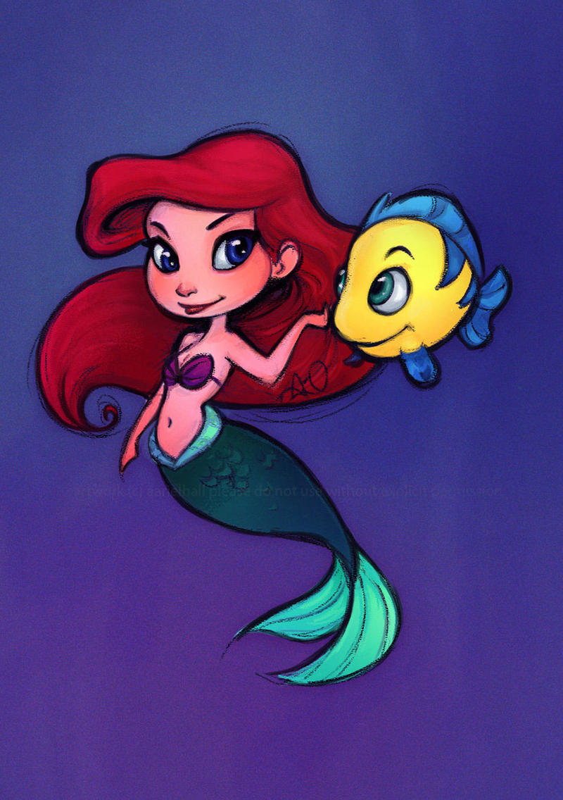 Little Mermaid: Ariel Chibi Colored By Relsgrotto On