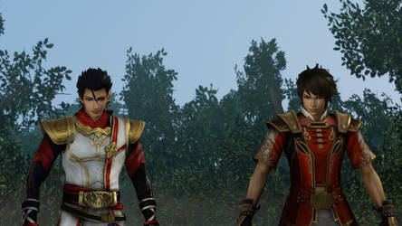 Lu Xun and Zhu Ran | Dynasty Warriors by NeriHyuga