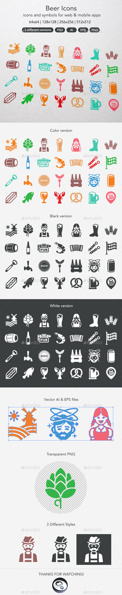 Beer Icons by ottoson