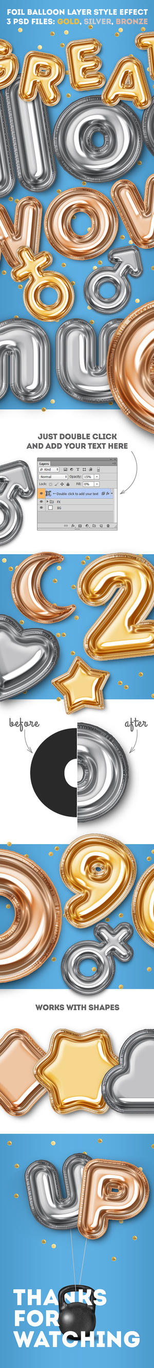Foil Balloon Layer Style Effect by ottoson