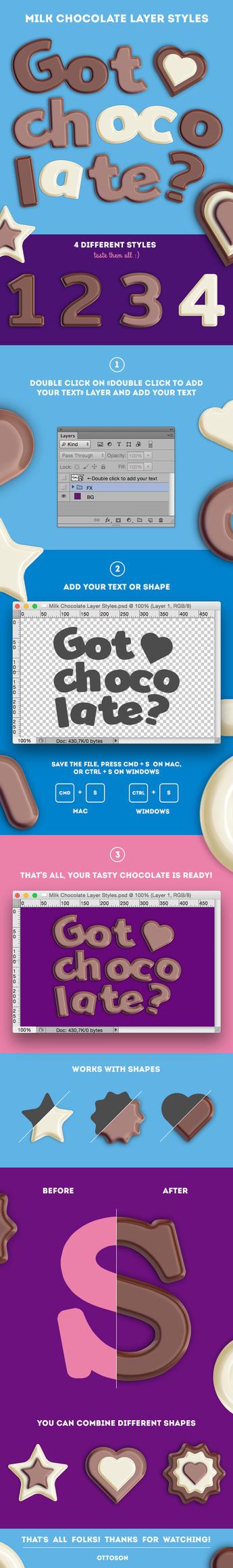 Milk Chocolate Layer Styles by ottoson