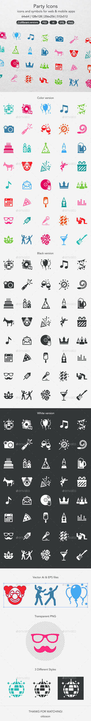 Party Icons by ottoson