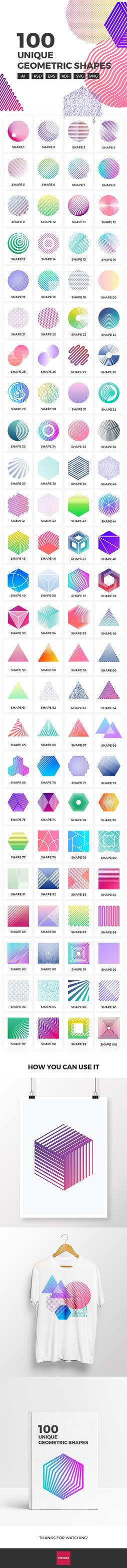 100 Unique Geometric Shapes by ottoson