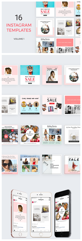 16 instagram templates vol 1 by ottoson on deviantart. Black Bedroom Furniture Sets. Home Design Ideas