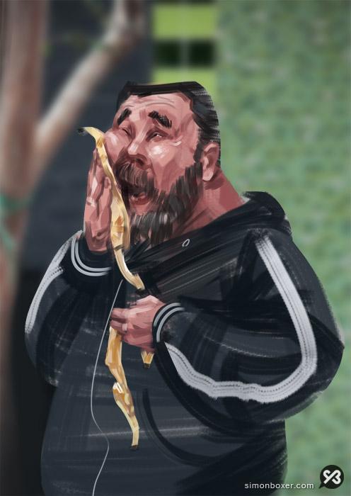 Banana man by SimonBoxer