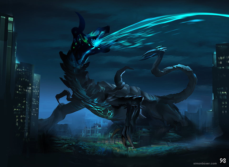Kaiju concept inspired by Pacific Rim by SimonBoxer on ... Pacific Rim Concept Art Pilot