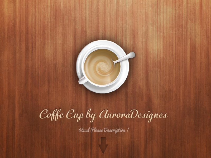Item Coffee PSD File and Flash