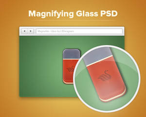 Magnifying Glass PSD