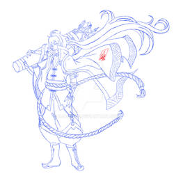 Prince Blue Business Card sketch