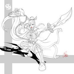Jeanne line art 1