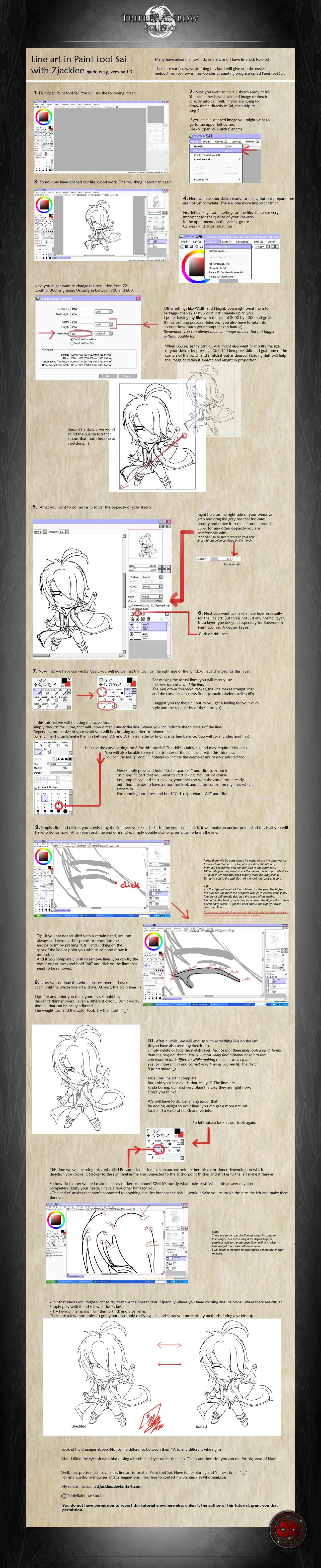 One Line Art Tutorial : Lineart on drawing tutorials deviantart