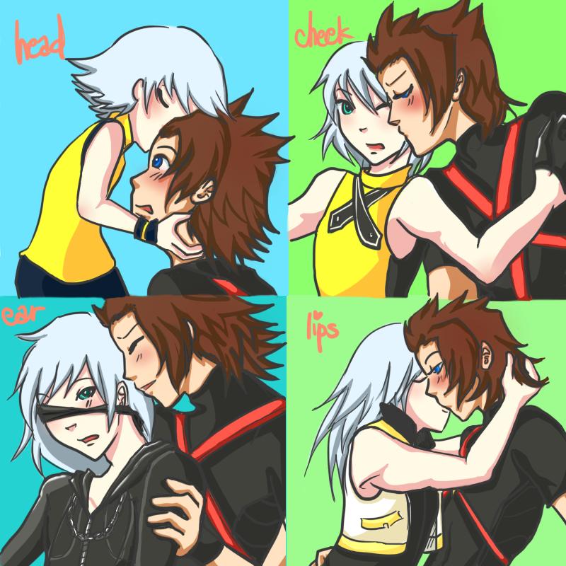 Four Kisses Meme: TerraxRiku by fantacination