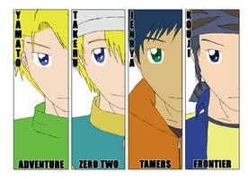 Digimon Anniversary 2010 SideB by osundu