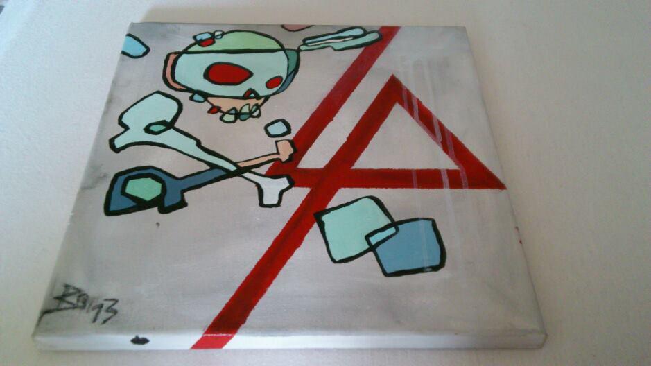 Mike Shinoda Style Painting by IamroBot-X