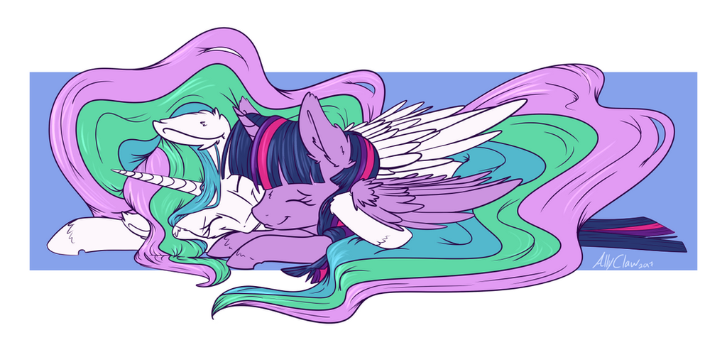 Tia and Twi Cuddles by AllyClaw