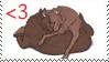 Wolf Love Stamp by CVDart1990