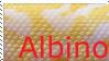 ALbino Snake Love Stamp by CVDart1990