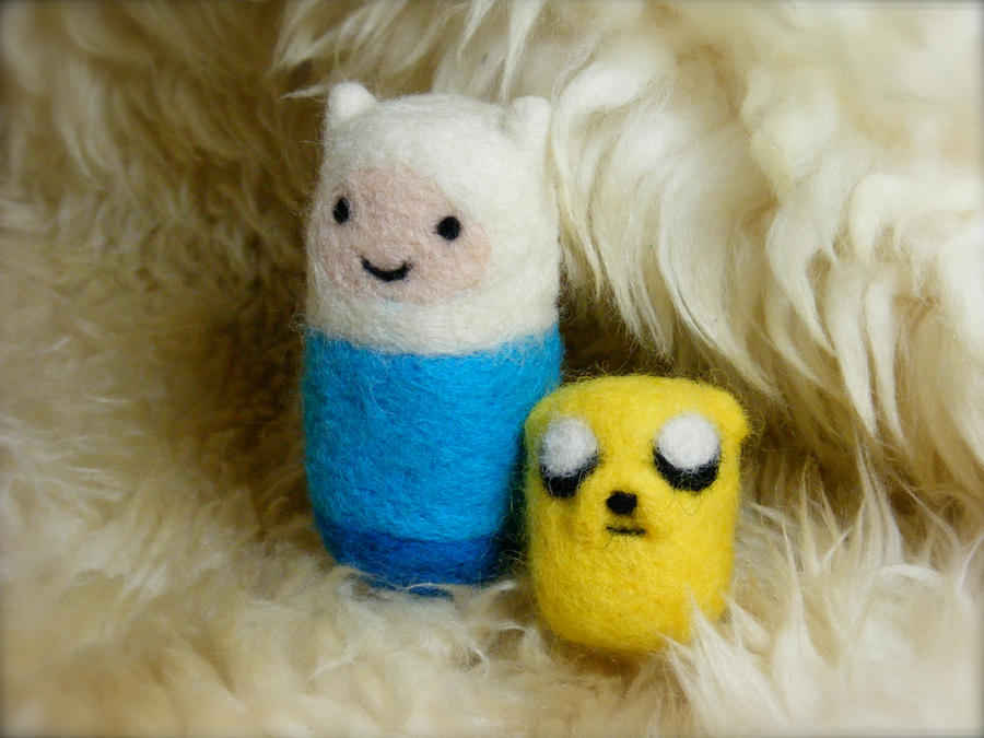 Needle Felted Fin and Jake by CVDart1990