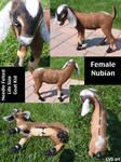 SALE Needle Felted Life Size Nubian Goat Kid