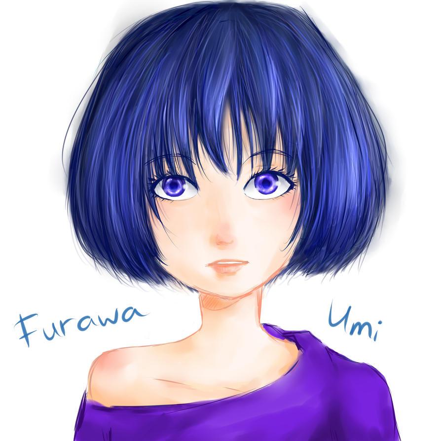 Blue Hair Girl by FurawaUmi