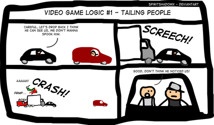 Car Tailing in Video Games