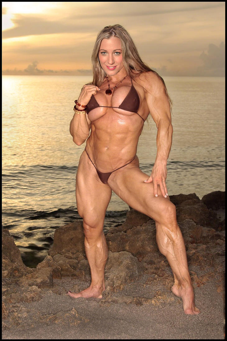 Muscular fbb strips and fucks herself with a big dildo - 3 part 4