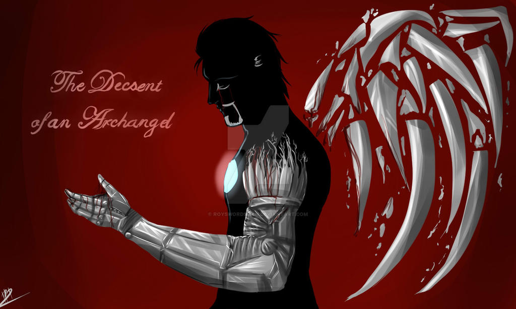 Decent of the Archangel by royswordsman