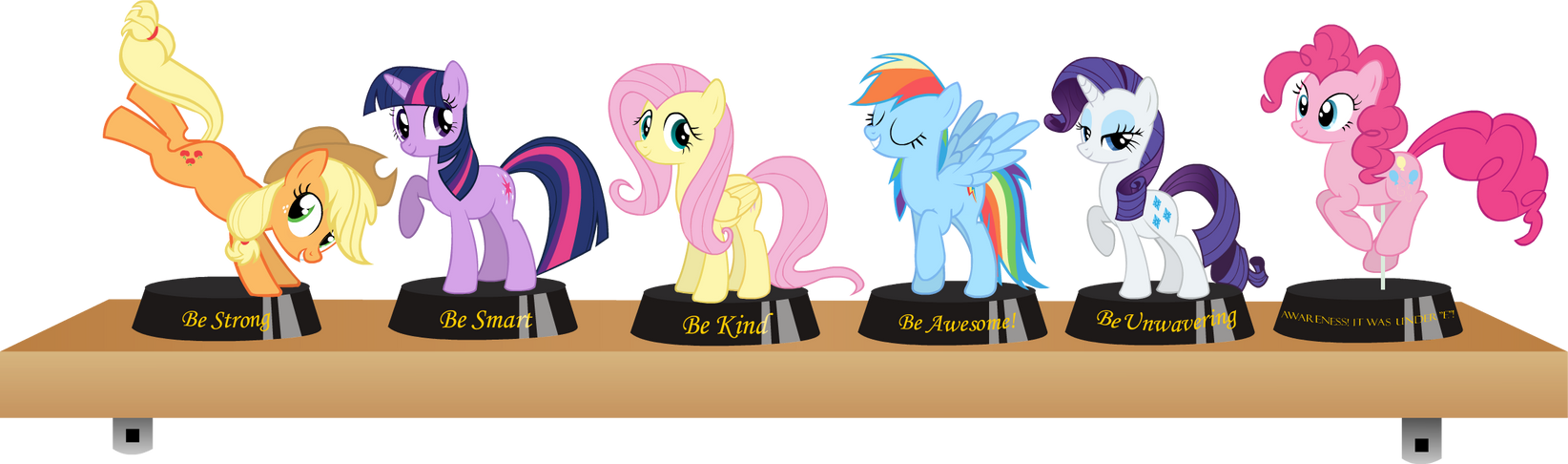 Fallout Equestria Statuettes by Thorwaldsen92