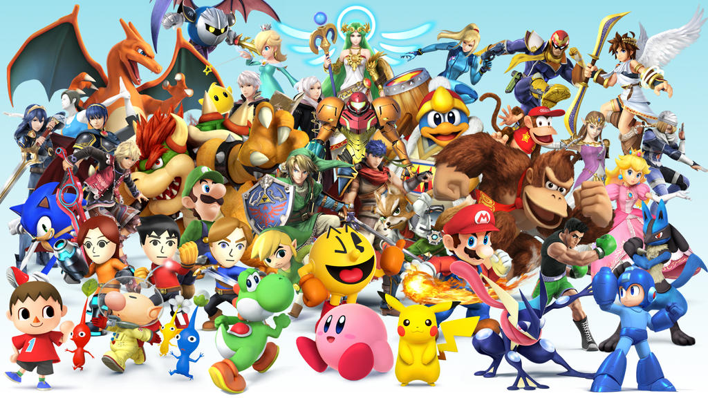 Super Smash Bros. Fighters Wallpaper by Legendaryhero64 on ...
