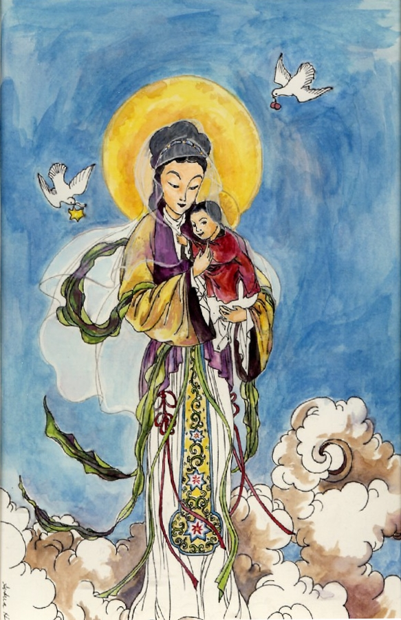 Chinese Madonna by GloriaDei