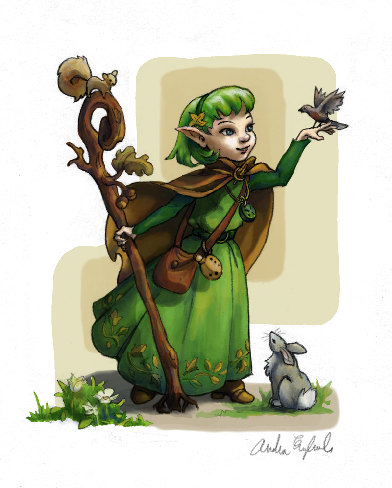 Saria, Sage of the Forest by GloriaDei