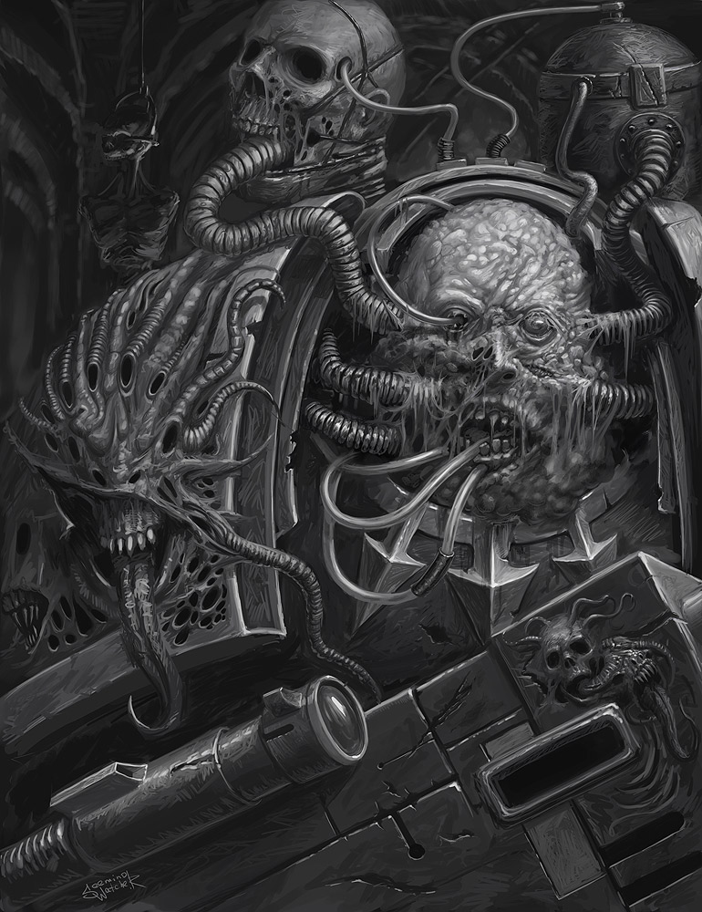 [W40K] Collection d'images : Space Marines du Chaos Death_guard_by_xeeming-d47l9k7