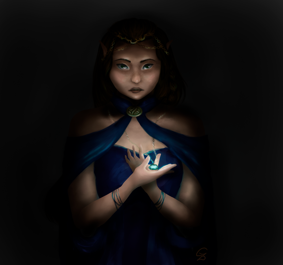 Mysterious elf by sophie-sz