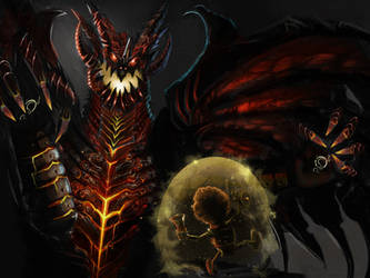 Deathwing vs Annoy-o-tron by Kimoss