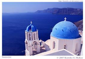 Church in Santorini 2 by Kumiko-Art