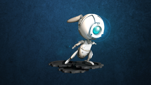 Little Bot Bunny by ViciousMakeout
