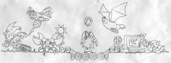 sonic tattoo pencil sketch by dngrliam on deviantart. Black Bedroom Furniture Sets. Home Design Ideas