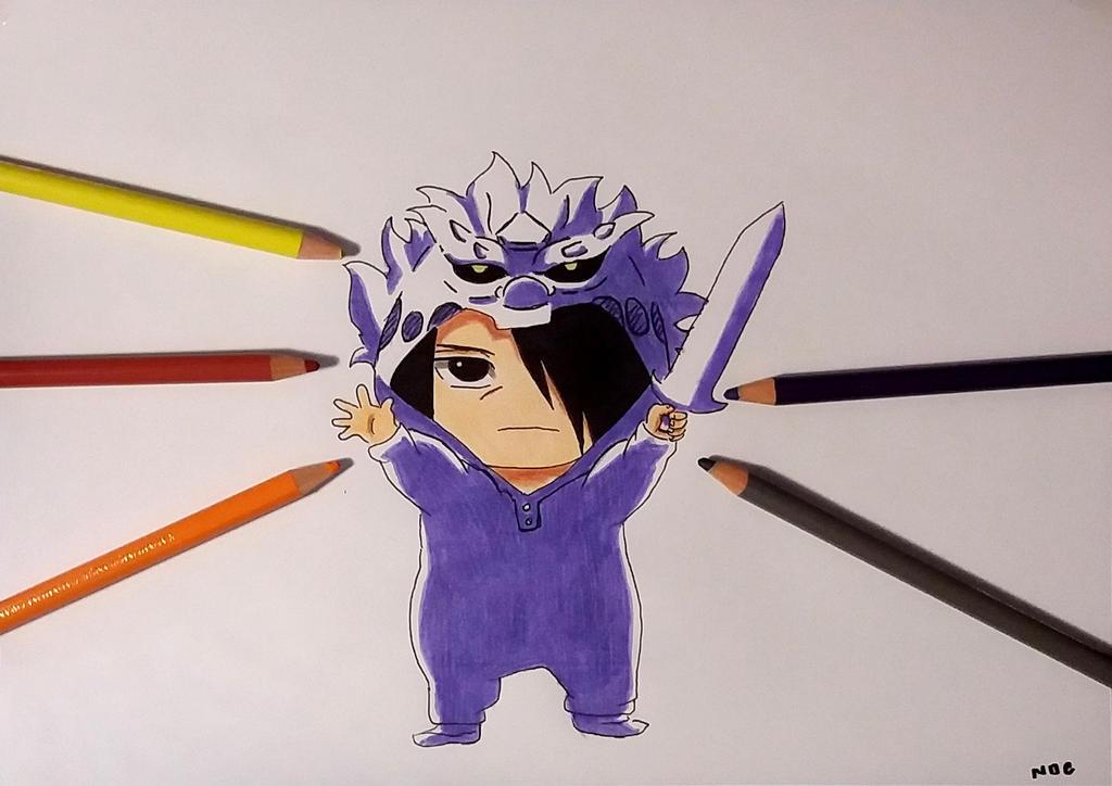 chibi sasuke uchiha perfect susanoo by