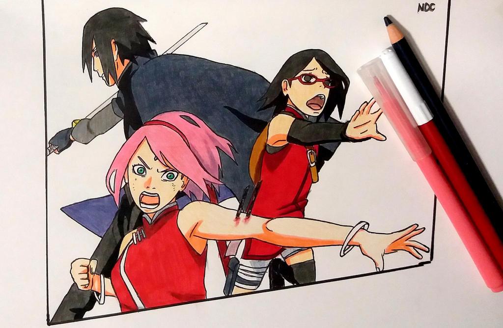 Sasuke sakura and sarada vs shin by narutodrawingchannel on sasuke sakura and sarada vs shin by narutodrawingchannel altavistaventures Gallery
