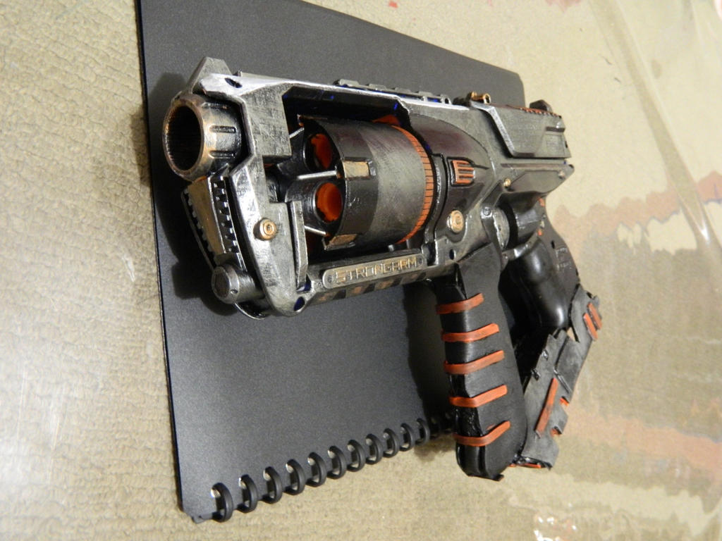 Image is loading Painted-amp-Modified-Nerf-Strongarm