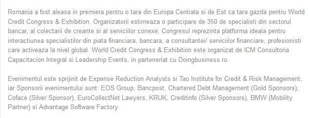 Firma KRUK a sprijinit World Credit Congress by carla2010