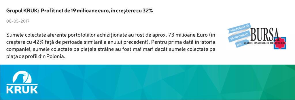 Piotr Krupa: KRUK in crestere cu 32% by carla2010