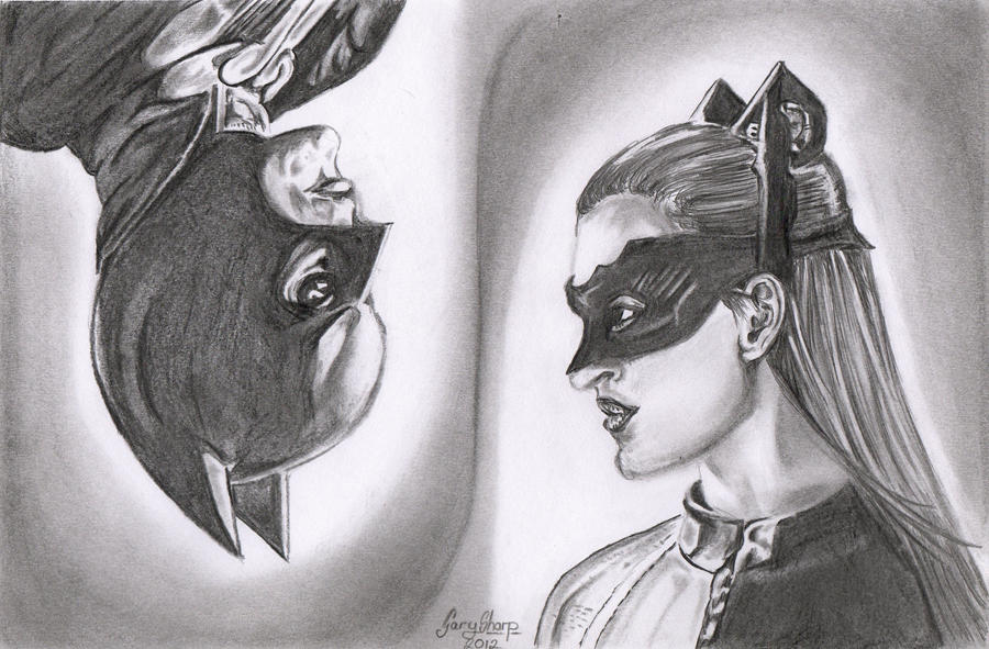 batman and catwoman by chairboygazza
