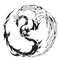 Dragon Phoneix Tatoo by kvasaclimited