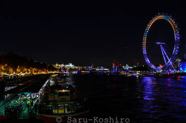 London Eye - Themse in the dark by Saru-Koshiro