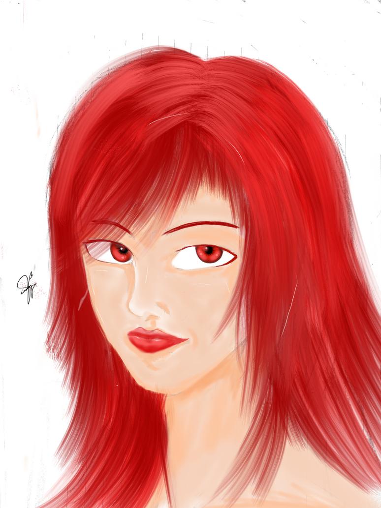 Red hair by kezaruzero