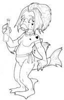 Piscau -Drink like a fish- WIP by dani-kitty