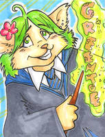 conbadge -- greentoe aka ashta by dani-kitty