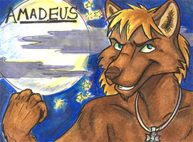 Conbadge --  Amadeus by dani-kitty