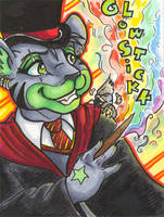 Conbadge -- Glowstickk by dani-kitty